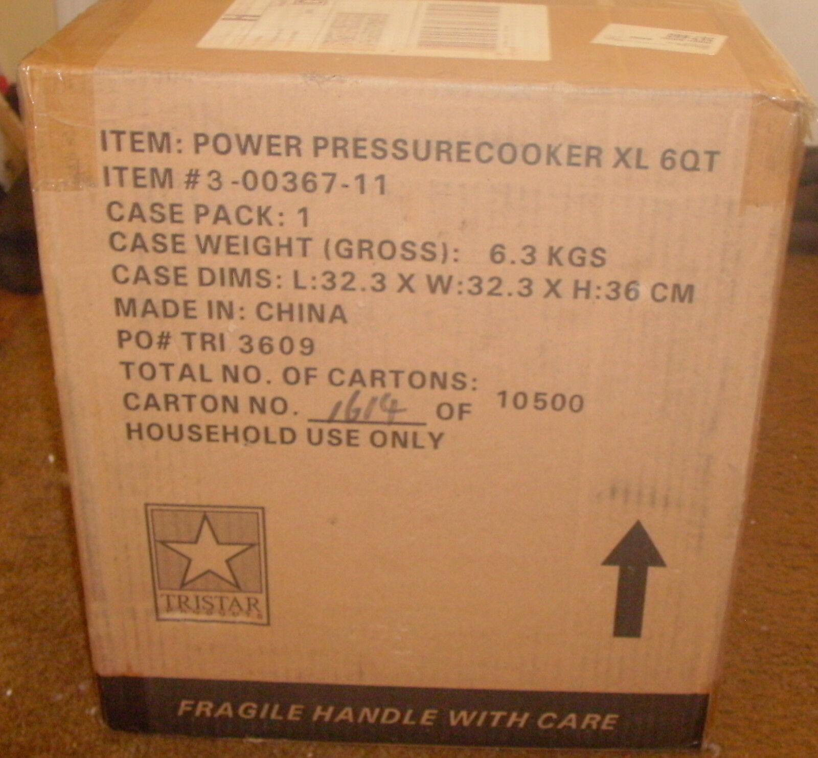 Nouveau Tristar Power Autocuiseur XL 6 QT