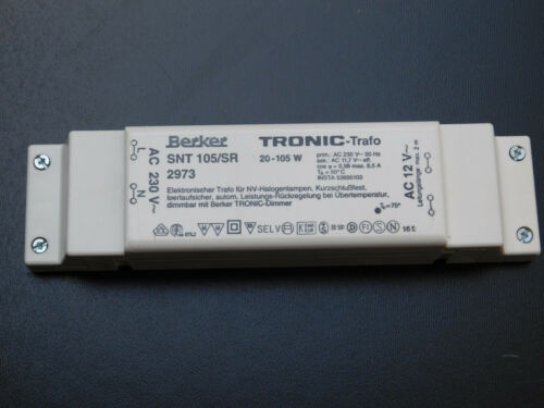 Berker elektronischer Niedervolt  Trafo max 105 W
