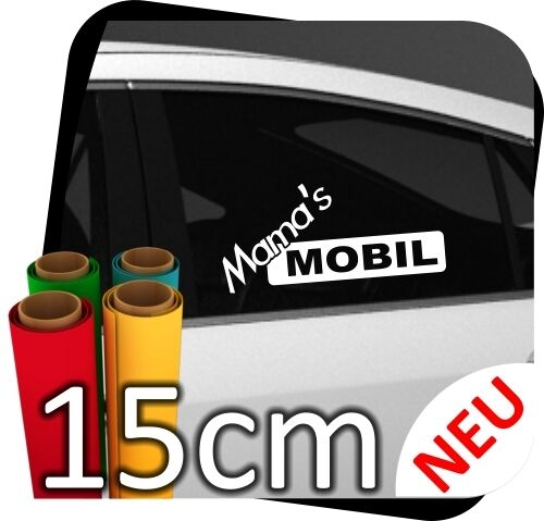 15cm Mama´s Mobil Girl Tussi Aufkleber Tuning Sticker Tussi Styling No.7