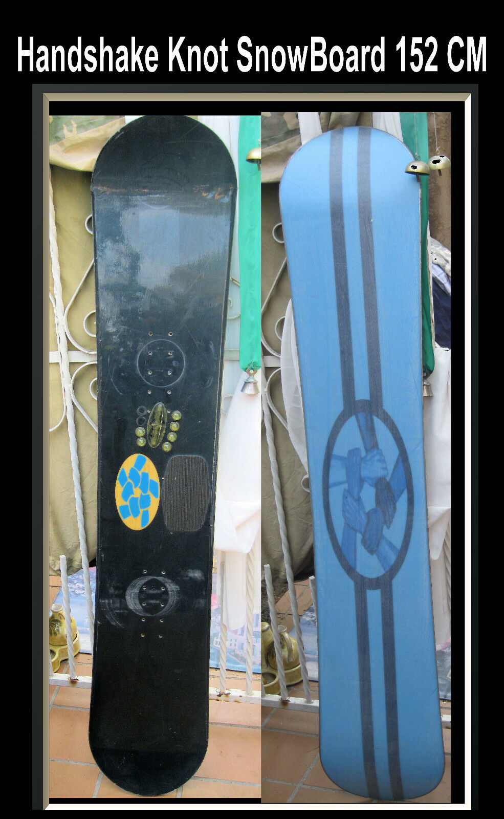 Snowboard  Handshake Knot   Snow Board 152 CM Gloss Quality RARE  great offers