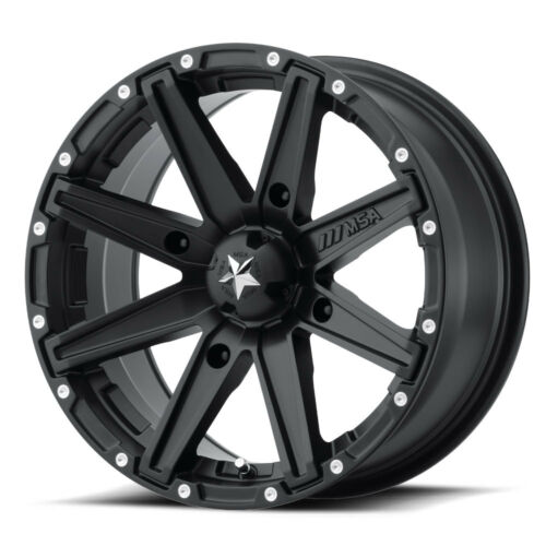 "10 Offset Satin Black MSA M33 Clutch 14/"" ATV//UTV Wheel Rim 14x7 4//156"