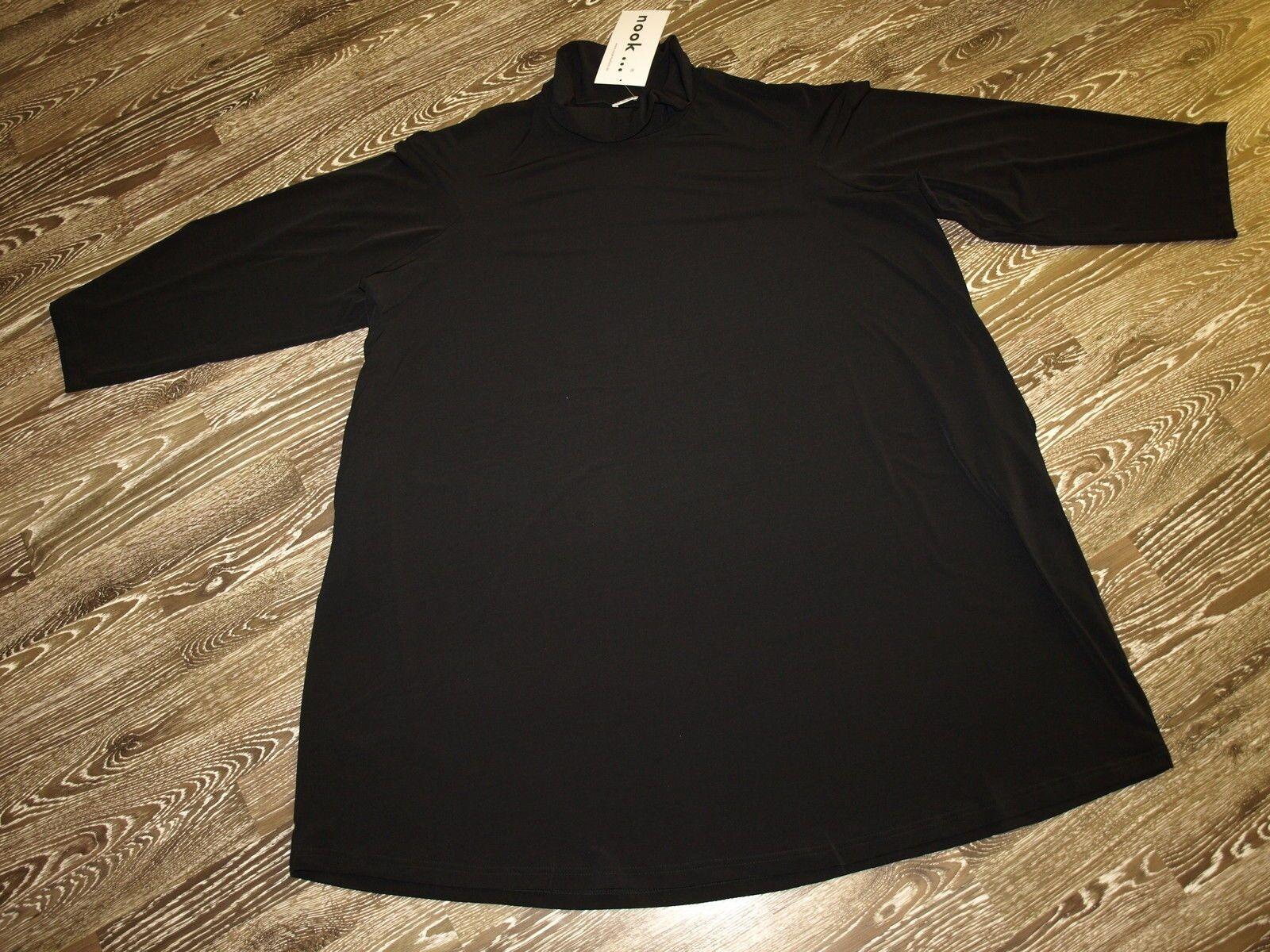 NOOK Lagenlook Kleid -Tunika in schwarz Gr3(50-52) Neu