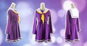 No-Game-No-Life-Shiro-School-Uniform-Purple-Cosplay-Costume