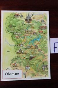 Livraison Rapide Carte Postale Vue Carte Saxe Oberharz-afficher Le Titre D'origine