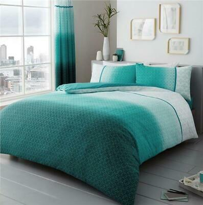Duvet Sets Teal Ombre Quilt Cover, Teal And Purple Ombre Bedding