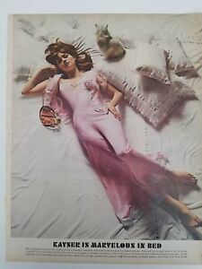 bb1fd7da6daec Details about 1965 women s Kayser pink lingerie marvelous in bed redhead fashion  ad