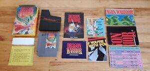 Dragon Warrior I 1 I i Nintendo NES Game Manual Box Map Chart Complete CIB Lot!!