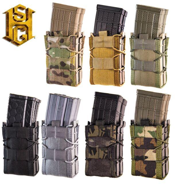 HSGI MOLLE X2RP Taco Double Rifle /& Pistol Magazine Pouch-112RP0-MC-CB-OD-BK-WG