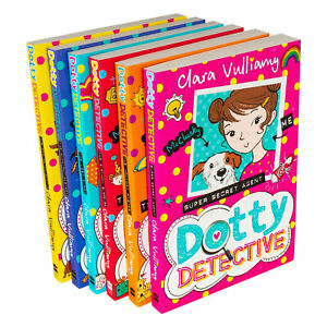Dotty-Detective-6-Books-Collection-Set-by-Clara-Vulliamy-Midnight-Mystery-NEW