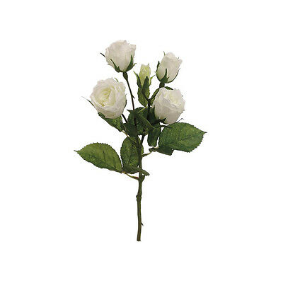 Marchio Popolare ★50 Fiori Artificiali Seta Tris Mazzo Di Rose Bianche Finte Decorazione Piccolo★ Rapida Dissipazione Del Calore