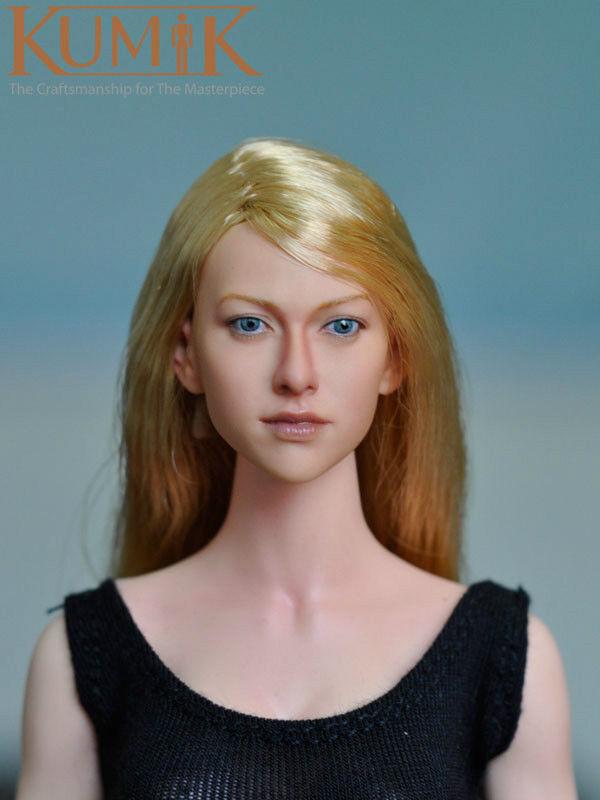 1 6 KUMIK Female Emily Kinney Head Sculpt Blonde Walking Dead F 12'' Figure Body