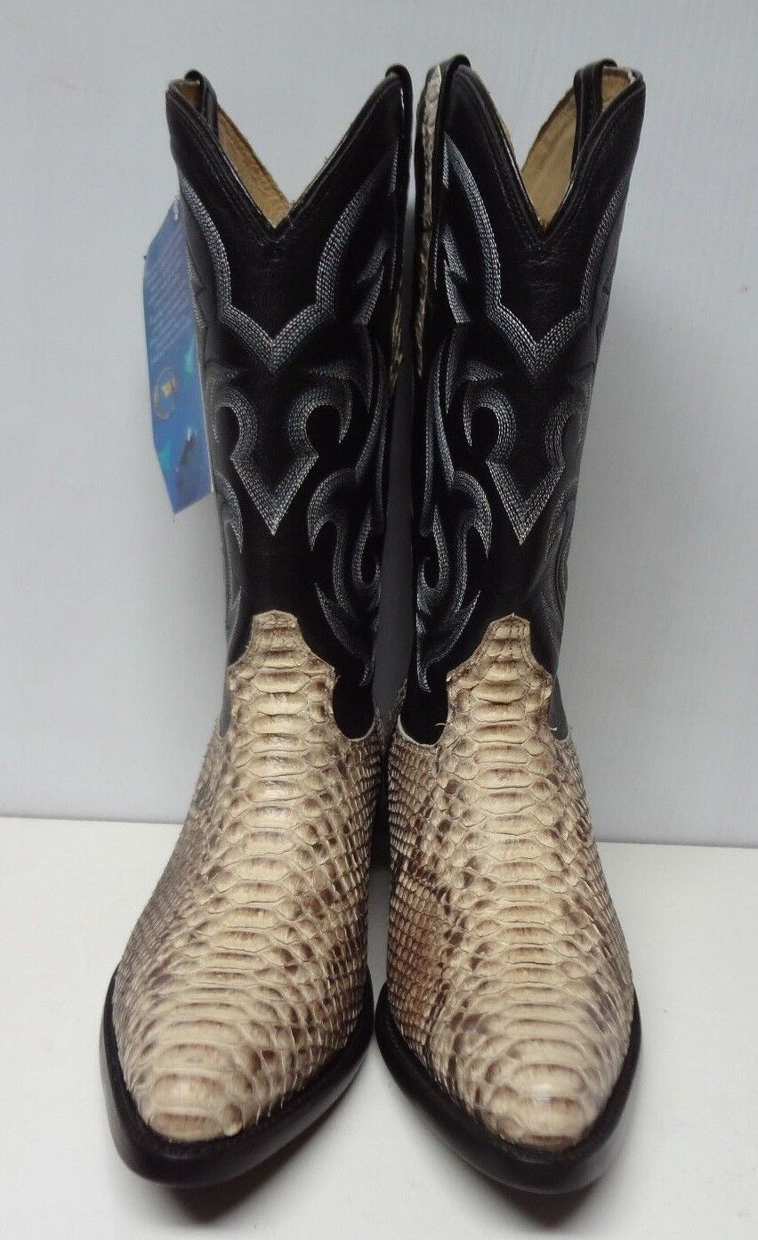 New Herren Real Python Snake Skin Genuine Leder Cowboy Stiefel Rodeo Western C118
