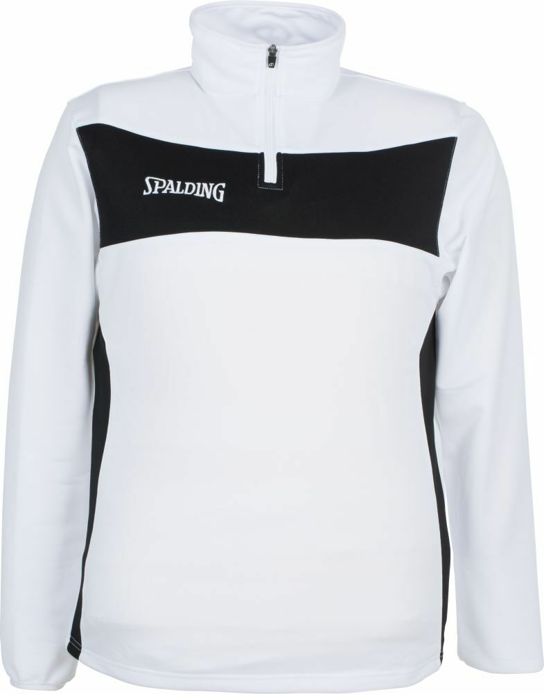 Spalding Basketball Evolution II 1 4 Zip Top Kinder Trainingssweat white black