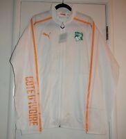 Puma Ivory Coast World Cup 2014 Walk Out Soccer Training Jacket Men's Sz Xl