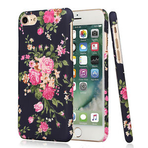 for apple iphone 8 plus flower case for girls women floral vintage