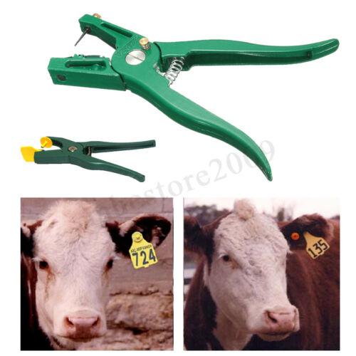 100 Number Livestock Animal Cattle Pig Cow Ear Tag ID Label Tag Applicator