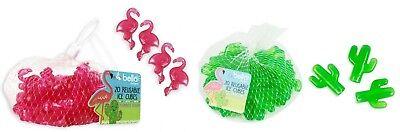 20 X Plastica Riutilizzabile Cactus Flamingo Shape Ice Cube Home Feste Bar Bbq-mostra Il Titolo Originale