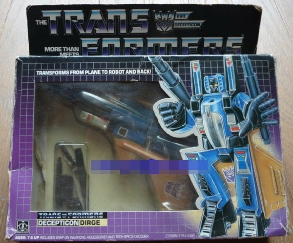 Takara Transformers Form Plane Decepticon DIRGE Vintage from Japan F/S  1980s