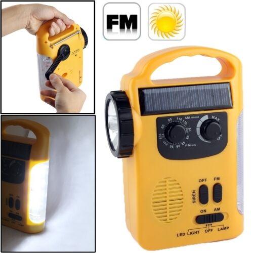 Solar Outdoor Notfall Radio+Taschenlampe ,Camping,Stromausfall,Leuchte,Zelten,  | Sonderkauf