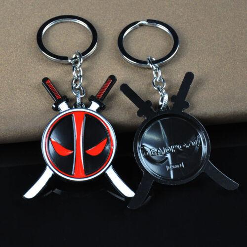 Marvel Superhero Deadpool Logo Alloy Key Chains Keychain Keyfob Keyring