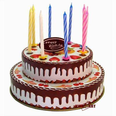 Outstanding Wind Up Vintage Birthday Cake Gift Retro Tin Toy Fun Mini Funny Birthday Cards Online Fluifree Goldxyz