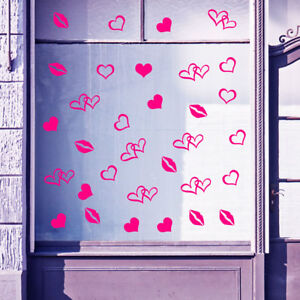 Happy Valentines Day Display Shop Window  Love Decorations Decals Stickers A395