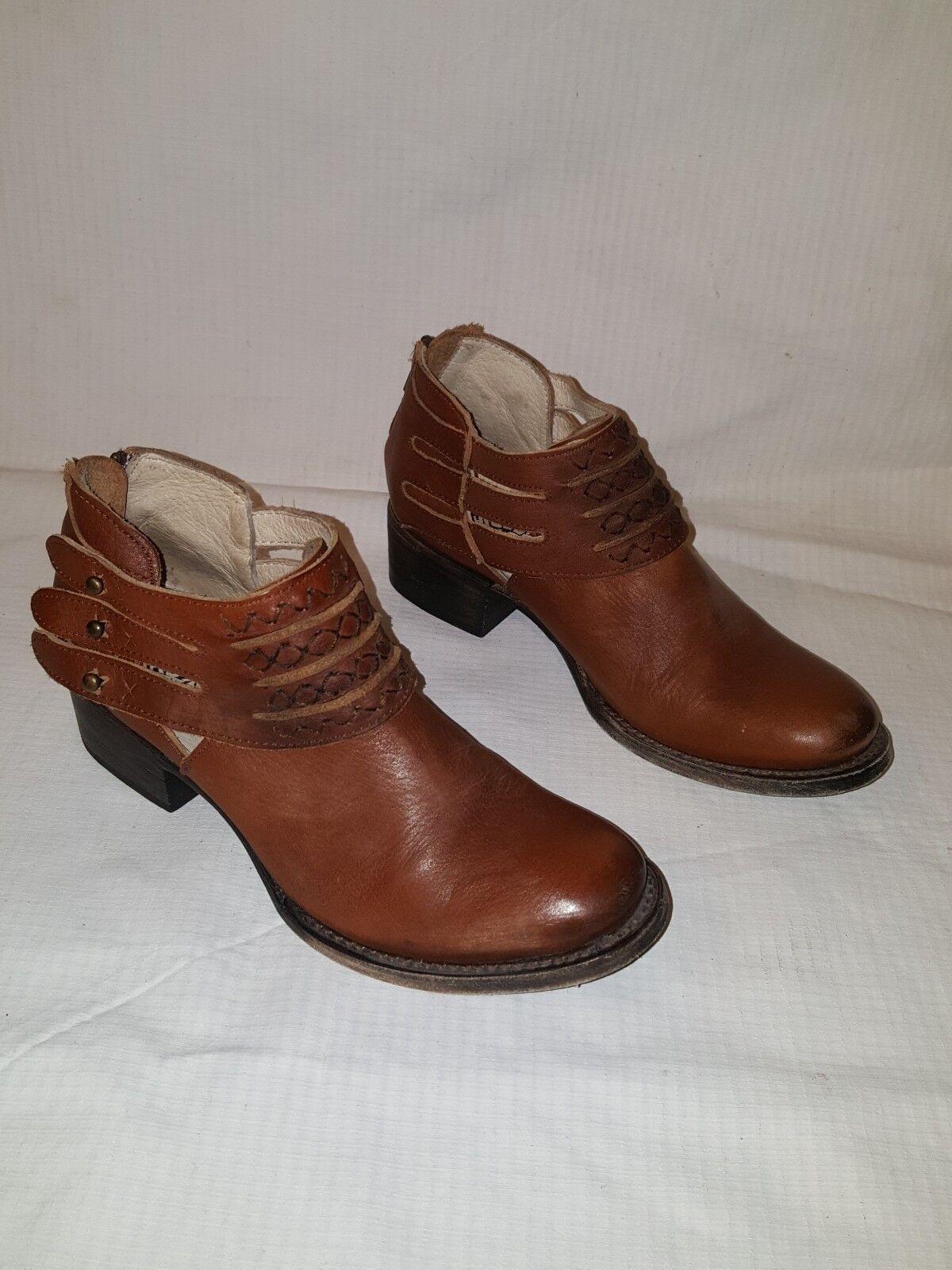 Freebird Freebird Freebird por Steve matar angustiado marrón botas al Tobillo de Cuero para Mujer Talla 7  opciones a bajo precio