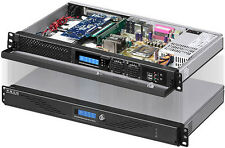 "1U ITX LCD (5.25"" / 3.5"" / 2x2.5"" HDD)(Rackmount Chassis)2x4cm-Fan Door Case NEW"