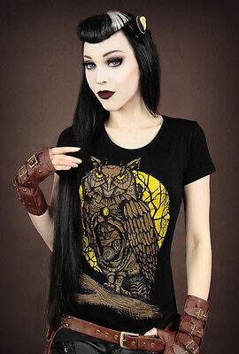 Restyle T-Shirt Steampunk Eule Mechanical Owl Dark Fashion Gothic Uhu Pirat RS45