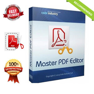 Master PDF Editor ☑️ Full Version ☑️PDF Creator ☑️ Fast Delivery☑️  eBay
