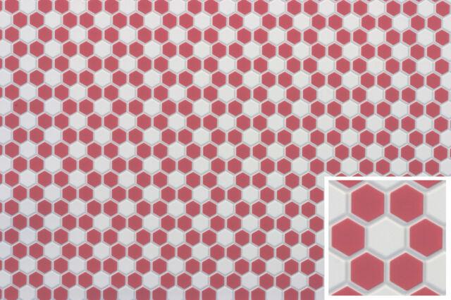 "Dollhouse Miniatures 1:12 Scale Tile Floor 1//8/"" Squares Pink #FF60683"