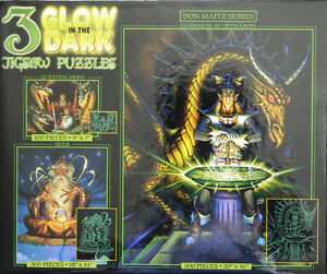 sethanon wizard dragon don maitz glow in dark 3 in 1 jigsaw puzzle