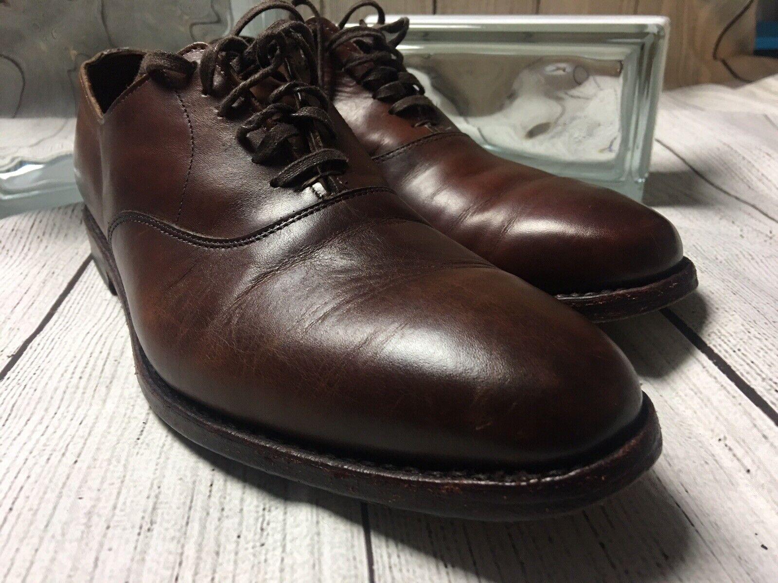 Allen Edmonds Plain Toe marron Oxford Chaussures en cuir Homme Taille 9 D