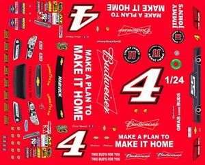 Kevin Harvick Make It Home Th Th Scale Waterslide - How to make waterslide decals at home