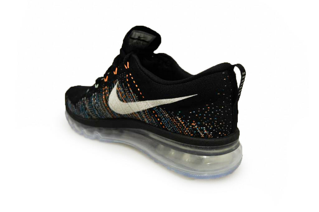 Para Hombre Nike Flyknit Max Max Max - 620469 015-Negro Blanco Entrenadores resplandor azul d5164d