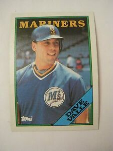 Details About 1988 Topps 583 Dave Valle Baseball Card Gs23 32