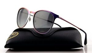 RARE Genuine RAY-BAN ERIKA METAL Violet Grey Gradient Sunglasses RB 3539 195/11
