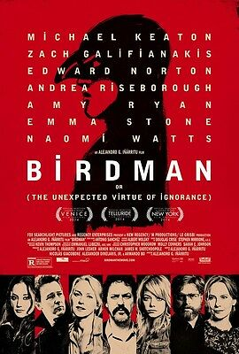 POSTER BIRDMAN OR THE UNEXPECTEDVIRTUE OF IGNORANCE (2014) MICHAEL KEATON - WQ11