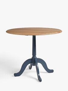 John Lewis Partners Clayton 2 4 Seater Drop Leaf Dining Table Oak Blue Ebay