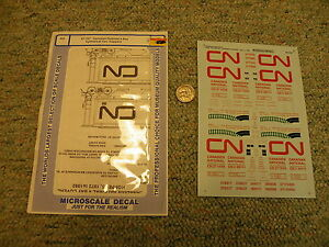 Microscale decals 87-707 Canadian National 4 bay cyl cov hopper  K90