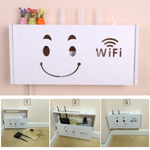 WLAN-Router Aufbewahrungsbox Regal Halterung Organizer Wandbehänge S//L PVC 52*9