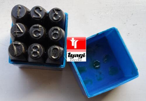 9mm Metal Punch Stamping Letters Alphabet Numbers Set Steel Die Tool Case Craft