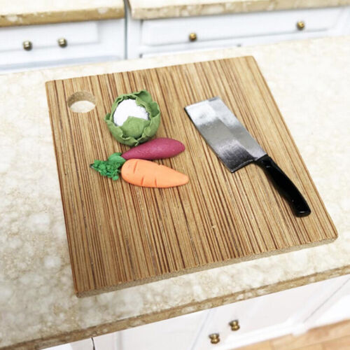 1:12 Dollhouse Miniature Kitchen Food Knife+Chopping Block Doll House Access UN