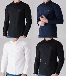 Nueva-camisa-para-hombre-Cubierta-De-Pato-Y-Camisa-Polo-Pique-Polo-Algodon-Con-Cuello-Top-S-2XL