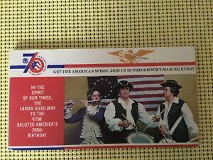 VFW-Ladies-Auxiliary-034-GET-THE-SPIRIT-034-Bicentennial-Postcard-Booklet-1975-1976