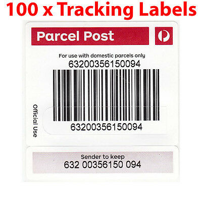 100x Australia Post Tracking Labels Stickers Auspost FREE - Keep Track Of Parcel