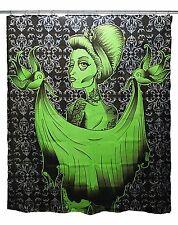 Too Fast Bloodbath Tattooed Girl Shower Curtain Punk Gothic Tattoo Rockabilly