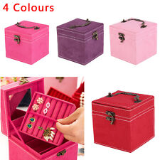 New Cube Necklace Bracelet Jewellery Display Storage Vintage Box Case Organiser