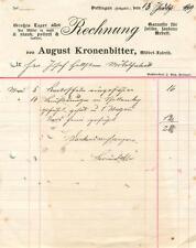 alte Rechnung, Dettingen (Horb) August Kronenbitter, Möbelfabrik 1919 #E747