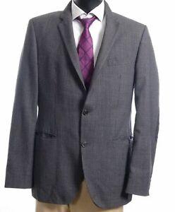 HUGO BOSS Sakko Jacket The Smith Gr.102 grau kariert Einreiher 2-Knopf -S391